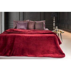 κουβέρτα-βελουτέ-μονή-guy-laroche-smooth-bordeaux-160×220