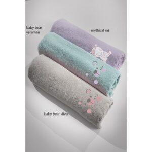 κουβέρτα-fleece-κούνιας-guy-laroche-baby-bear-silver-100×140