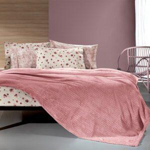 κουβέρτα-fleece-υπέρδιπλη-guy-laroche-rombus-coral-2