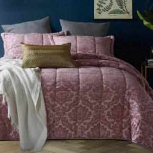 παπλωμα-κουβερλι-υπερδιπλο-βελουδινο-jacquard-classic-pink